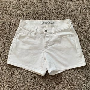 Old Navy Sweetheart White Denim Shorts